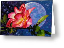 Moonlight And Roses Greeting Card