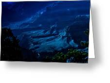 Moonlight At Grand Canyon Greeting Card