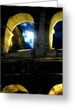 Moonlight At The Colosseum Greeting Card