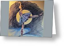 Moonlight Ballerina Greeting Card