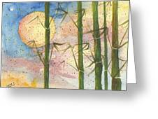 Moonlight Bamboo 2 Greeting Card