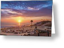Moonlight Beach Sunset Greeting Card