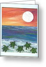 Moonlight Birthday Swim. Greeting Card