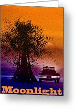 Moonlight Greeting Card by Bob Orsillo