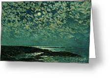 Moonlight Greeting Card by Childe Hassam