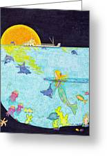 Moonlight Crossing 2 Greeting Card by Judy Cheryl Newcomb