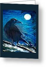 Moonlight Crow Greeting Card