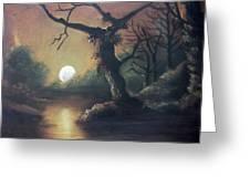 Moonlight Harmony Greeting Card