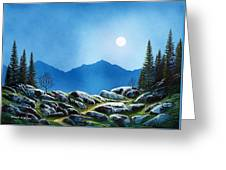 Moonlight Hike Greeting Card