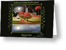 Moonlight In Cottage Grove Greeting Card by Catherine Holman