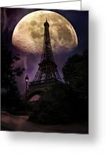 Moonlight In Paris Greeting Card