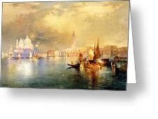 Moonlight In Venice Greeting Card