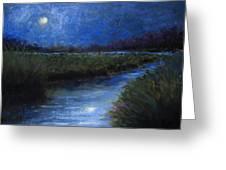 Moonlight Marsh Greeting Card
