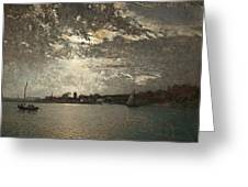 Moonlight Mood, The Stockholm Inlet  Greeting Card