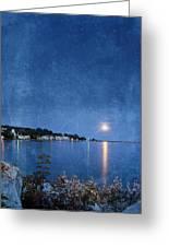 Moonlight On Mackinac Island Michigan Greeting Card