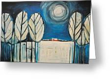 Moonlight On The First Snow Greeting Card