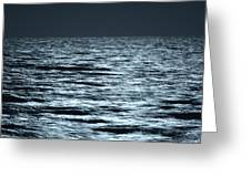 Moonlight On The Ocean Greeting Card