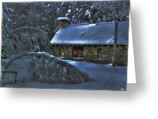 Moonlight On The Stonehouse Greeting Card