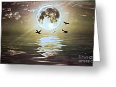 Moonlight On Water Greeting Card