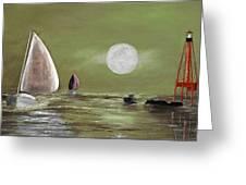 Moonlight Sailnata 2 Greeting Card