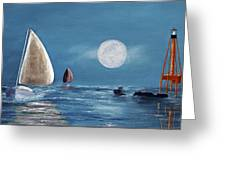 Moonlight Sailnata 4 Greeting Card