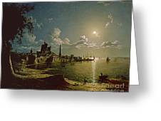 Moonlight Scene Greeting Card by Sebastian Pether
