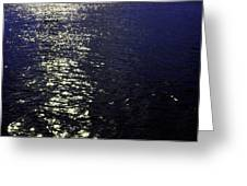Moonlight Sparkles On The Sea Greeting Card