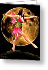 Moonlight Stroll Of A Fairy Greeting Card