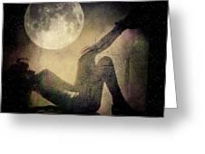 Moonlight Tanning V3 Greeting Card