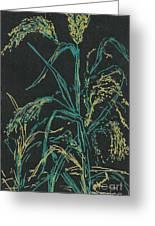 Moonlight Wheat Greeting Card