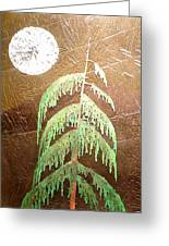 Moonlit Cedar  Greeting Card