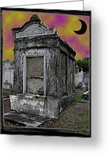 Moonlit Cemetary Greeting Card