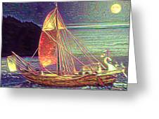 Moonlit Corbita I Greeting Card