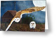 Moonlit Flight Greeting Card