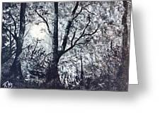 Moonlit Forest  Greeting Card