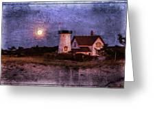 Moonlit Harbor Greeting Card