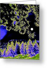 Moonlit High Country Greeting Card