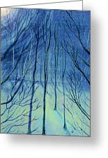 Moonlit In Blue Greeting Card