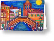 Moonlit San Barnaba Greeting Card