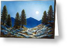 Moonlit Trail Greeting Card by Frank Wilson