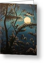 Moonlit Trees Greeting Card