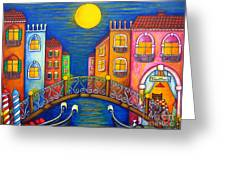 Moonlit Venice Greeting Card
