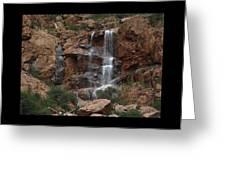 Moonlit Waterfall Greeting Card