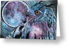 Moonlit Wisdom  Greeting Card