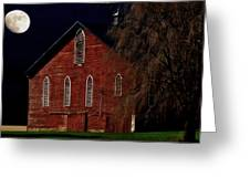 Moonlite 1900 Barn Greeting Card by Stephanie Calhoun
