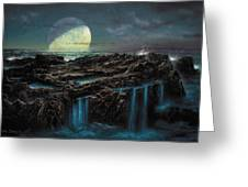 Moonrise 4 Billion Bce Greeting Card by Don Dixon