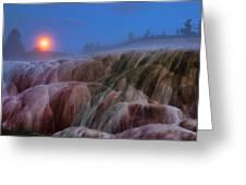 Moonrise At Mammoth Greeting Card