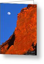 Moonrise In Grand Staircase Escalante Greeting Card