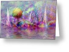 Moonrise On Orchid Bay Greeting Card