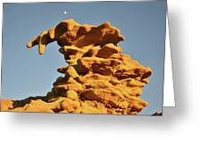 Moonrise Over Fantasy Canyon Hoodoo Greeting Card